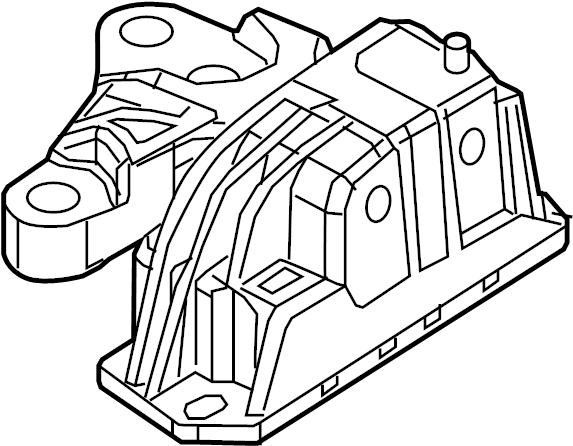 Chevrolet Silverado 2500 HD Engine Mount. Diesel, LITER