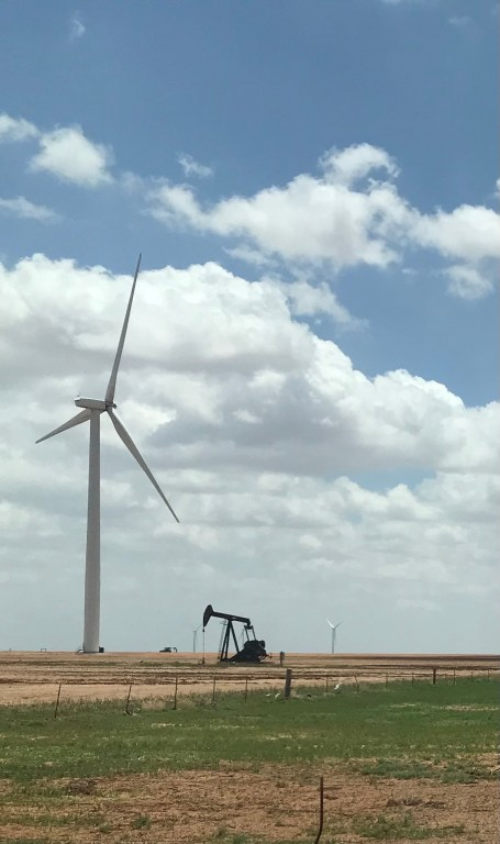 Wind farm on I-20 in West Texas
