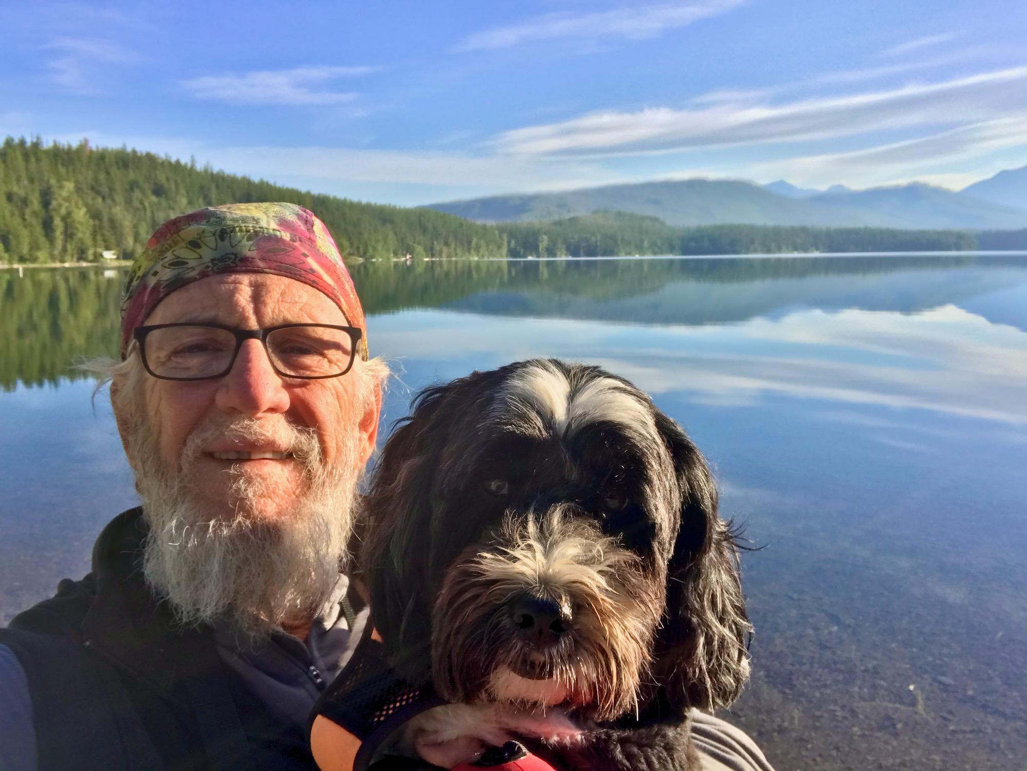 Jake & Eddie at Apgar Village on Lake McDonald