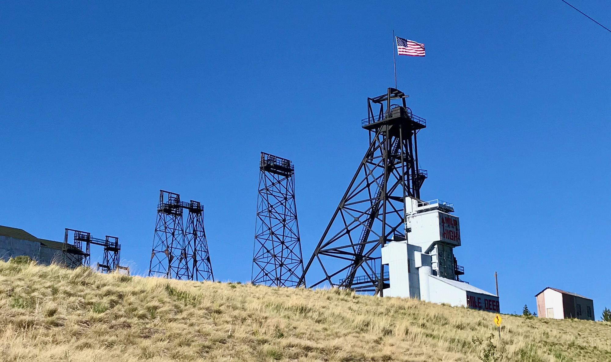 A mine on the hillside in Butte