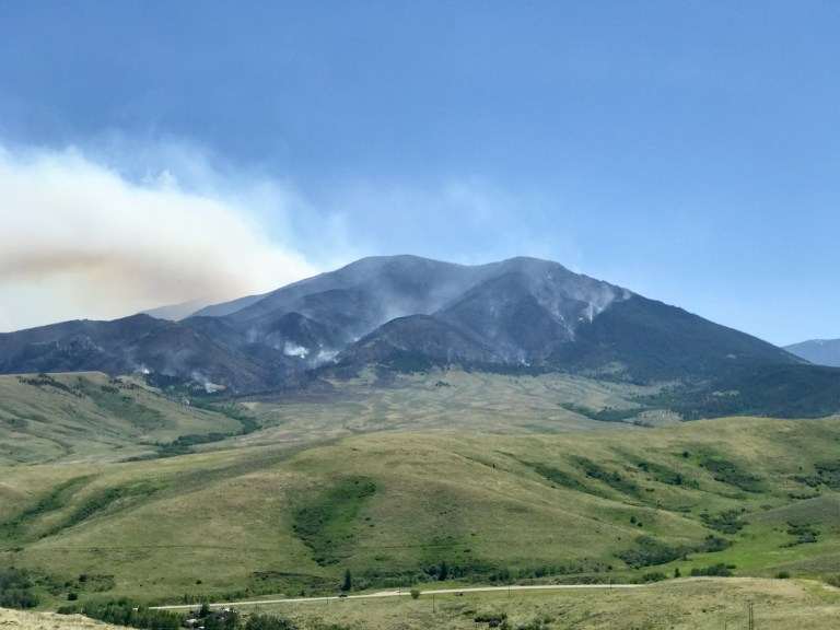 Robertson Draw Fire near Red Lodge