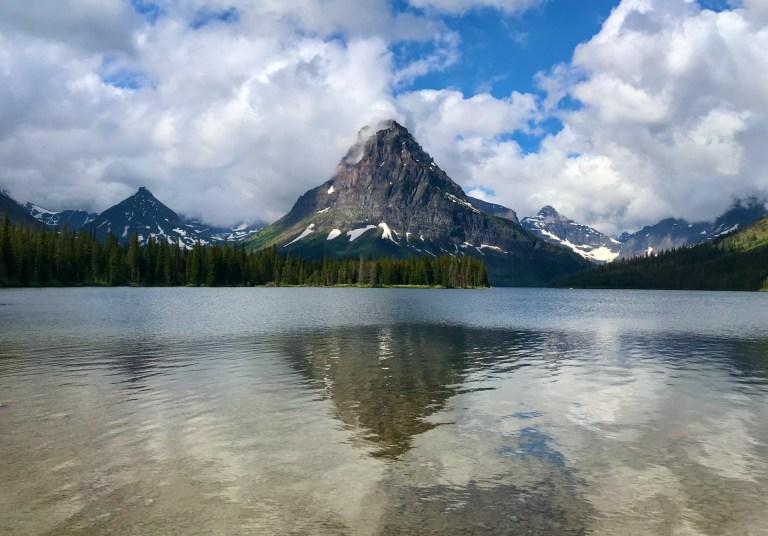 Sinopah Mountain at Two Medicine Lake
