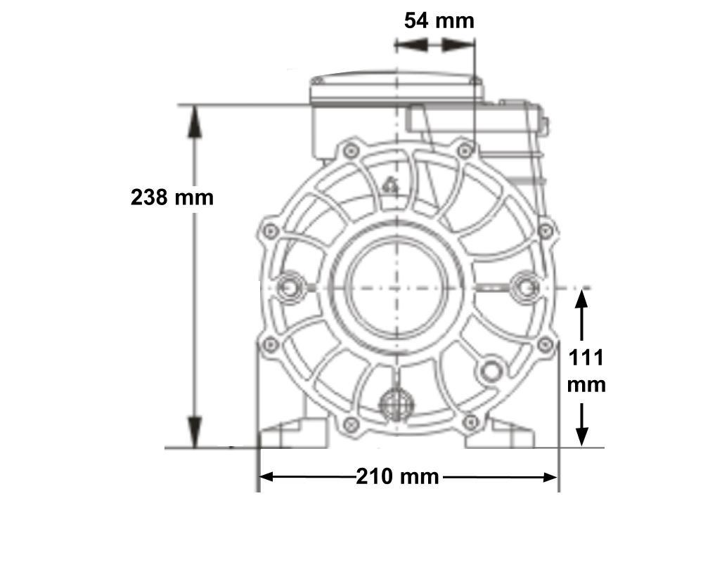 Pompe bi-vitesse LX Whirlpool WP500-II pour spa