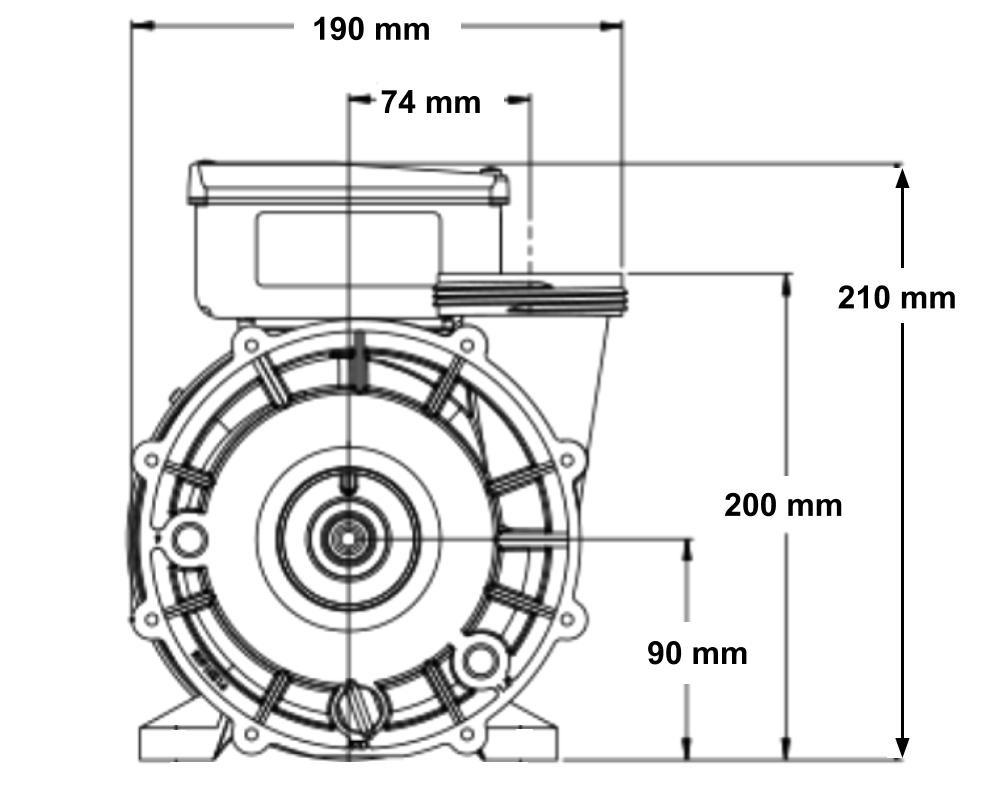 Aqua-Flo Flo-Master XP2 single-speed spa pump