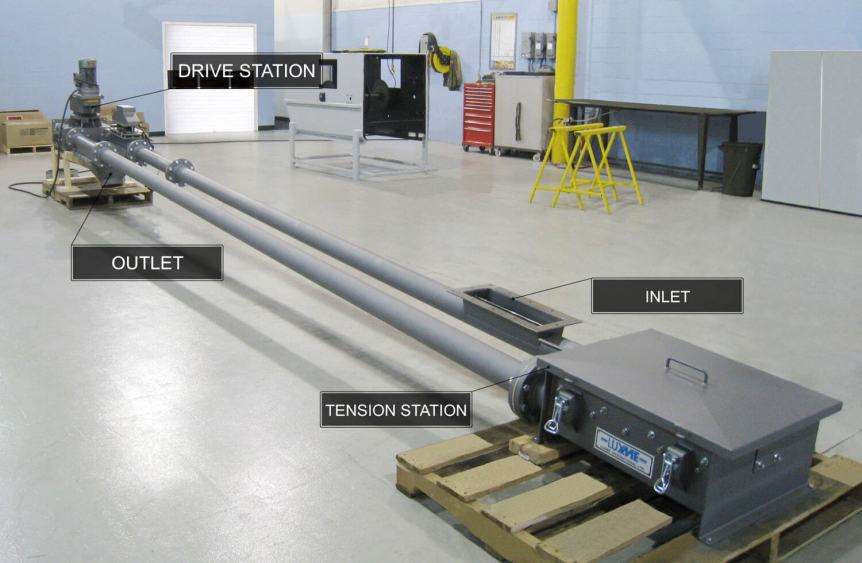 Tubular Chain Conveyors Installations - Conveying Systems