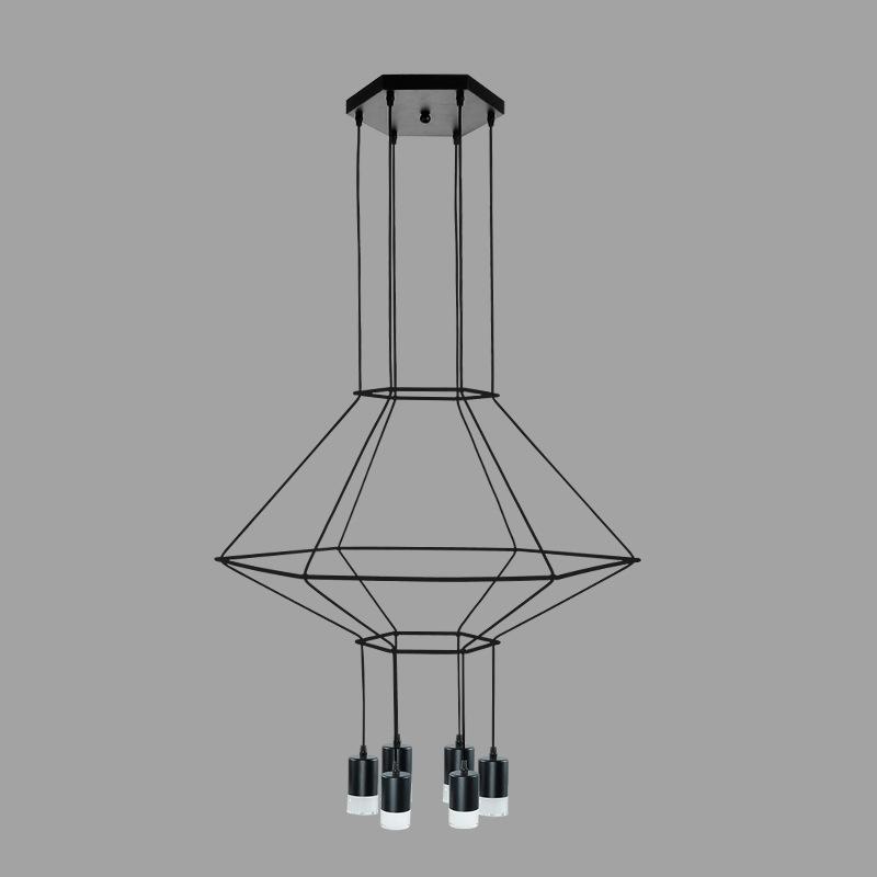 Wire flow Octagonal Pendant light