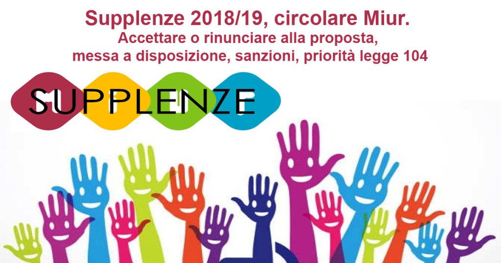Supplenze 201819 Circolare Miur Tu Cittadino