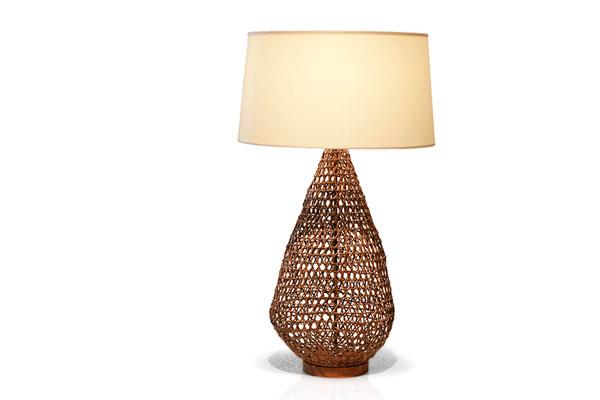 Tucker Robbins  Rattan Table Lamp