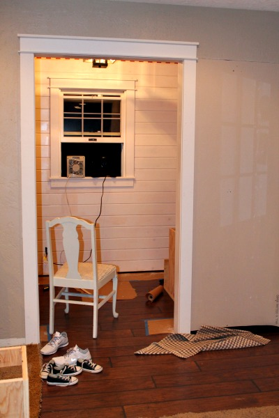 sawdust diaries mudroom painted