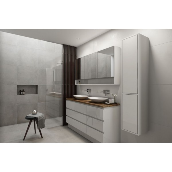 Timberline Ashton Floor Standing Bathroom Vanity Cabinet  Tuck Plumbing Fixtures