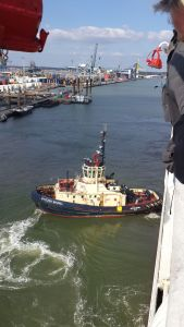 Thomas the Tug Boat appears in every port - impressively powerful