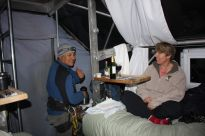 in the skylodge Sacred Valley Peru