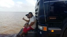 Amazon River Truck Ferry