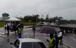 road blocks french guiana