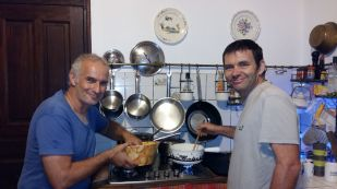 Vincent gets Marcus cooking :-)