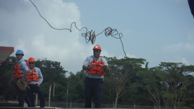 panama canal line worker
