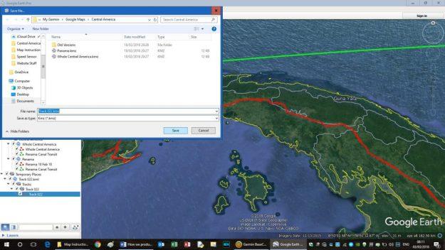 Convert Garmin Tracks into Google Maps - Tucks' Travels in a Truck
