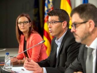 Amigó, Rodríguez y Altur durante la presentación de los presupuestos.