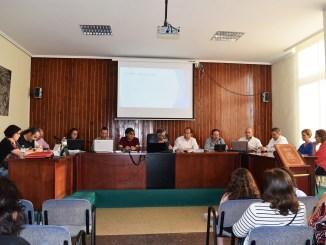Una imagen de la última sesión plenaria del Ayuntamiento de Vilamarxant.