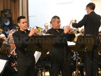 Francisco Marzo y Antonio Cambres en un momento de su interpretación.