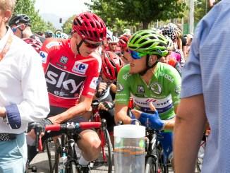 La Vuelta a su paso por Lliria en agosto de 2017.