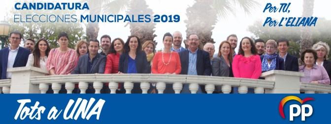 La candidatura de María José Marco por el PP de l'Eliana aglutina al tejido asociativo del municipio.