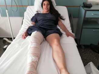 La jugadora del Yátova en el hospital.
