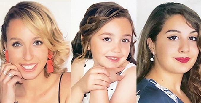 Las Reinas Andrea Villar Solá y la niña Daniela Carrascosa Marzo. Mª José Ferrer Hernández es Representante de la sociedad.