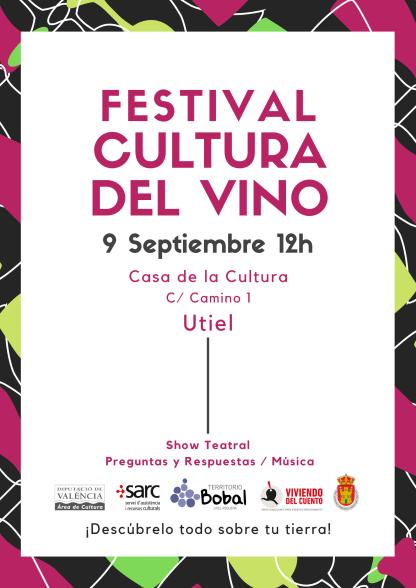 El próximo lunes 9 de septiembre a las 12.00 horas en la Casa de Cultura de Utiel