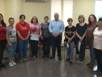Participantes en el curso para cuidadores no profesionales de personas dependientes ofrecido por el Ayuntamiento de Turís.