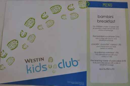 Breakfast Kids Menu at AZUL