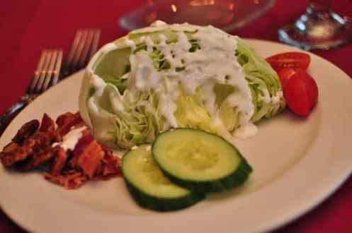 Chopped Iceberg Lettuce at GOLD Restaurant