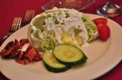 Chopped Iceberg Lettuce at GOLD Restaurant