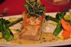Salmon at GOLD Restaurant