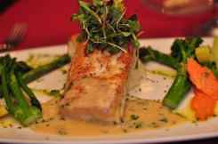 Salmon at GOLD Restaurant