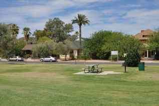Catalina Park on 4th Avenue has two unshaded picnic tables