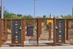 Purple Heart Park dog park exit