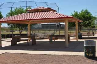 Purple Heart Park ramada near sports fields