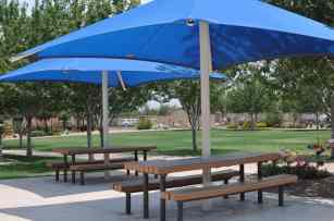 covered picnic tables at Rancho Sahuarita