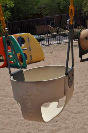 infant swing at Civano tot lot