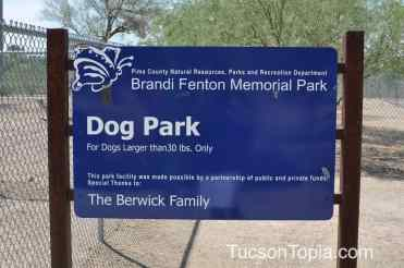 Brandi Fenton Memorial Park has two dog parks - one for small dogs, one for large dogs
