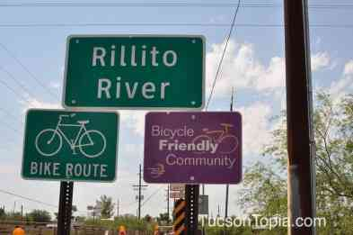 Rillito River path is adjacent to Brandi Fenton Memorial Park