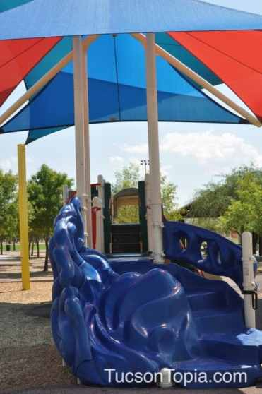 covered playground at Brandi Fenton Memorial Park