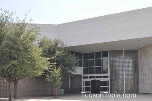 main entrance of Tucson Jewish Community Center