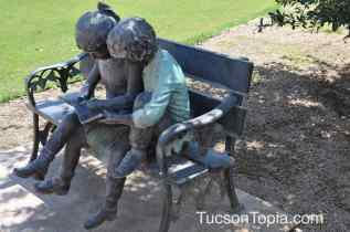 reading sculpture at Brandi Fenton Memorial Park