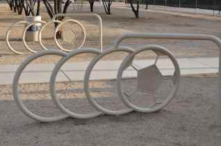 soccer bike racks at Morris K Udall Park