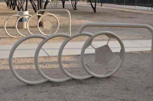soccer bike racks at Morris K Udall Park