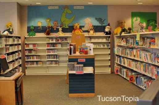 Children's Area is on the first floor of the Joel D Valdez Main Library