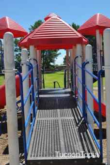 There are two playgrounds at Fort Lowell Park