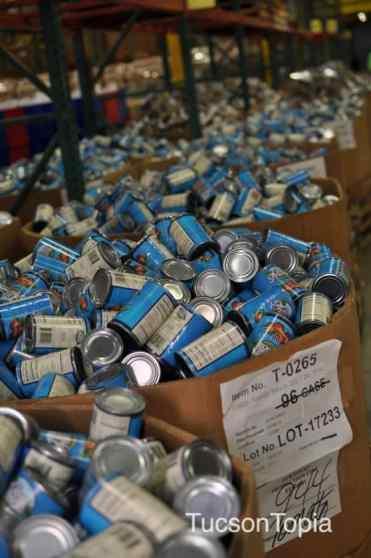 Volunteer to sort or distribute food at the Community Food Bank of Southern Arizona
